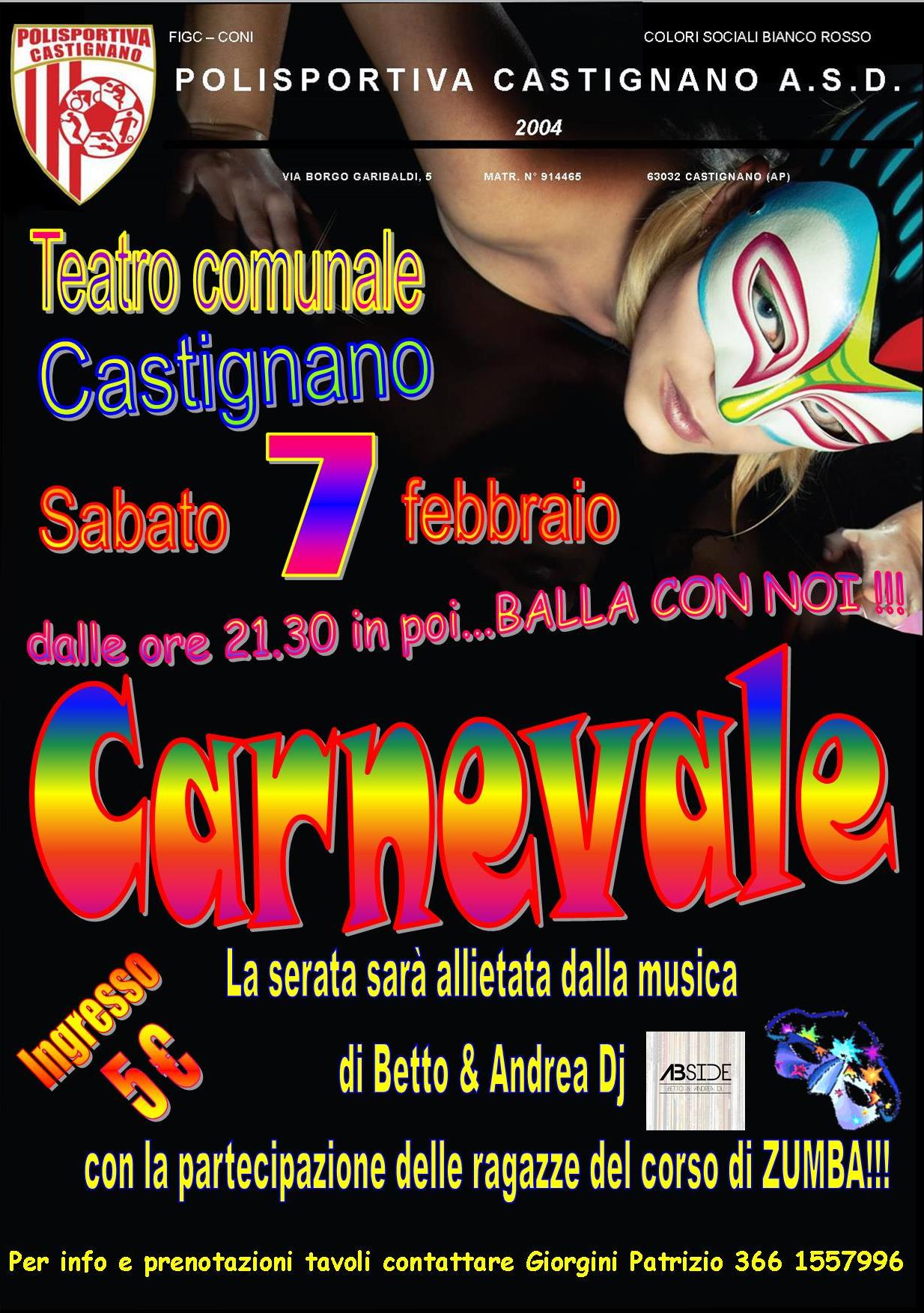 CARNEVALE IN… BIANCOROSSO!!!