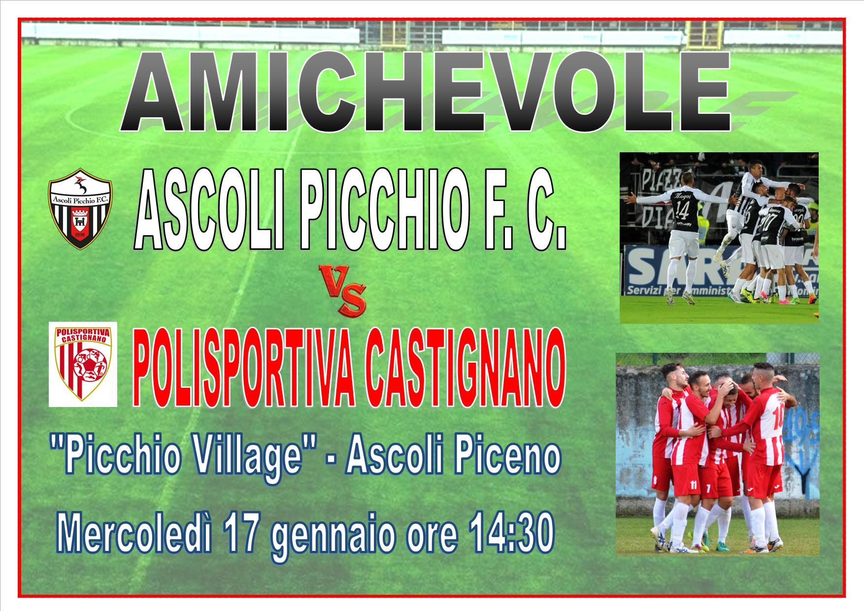 AMICHEVOLE CON L'ASCOLI PICCHIO!!!