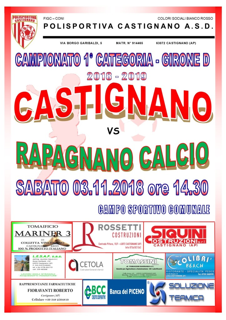 07 - CASTIGNANO - RAPAGNANO CALCIO