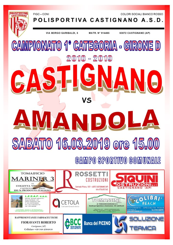 25 - CASTIGNANO - AMANDOLA