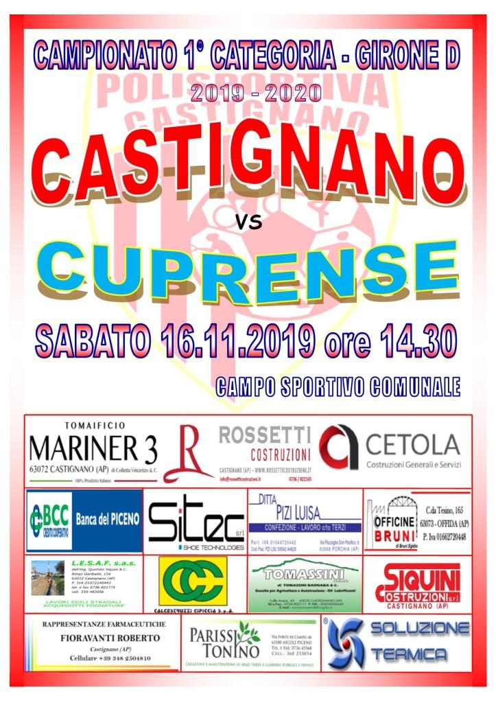 10° CASTIGNANO - CUPRENSE