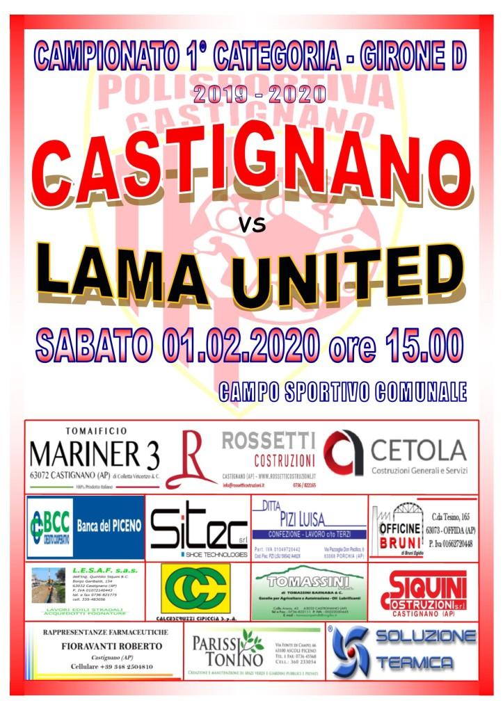 20° CASTIGNANO - LAMA UNITED