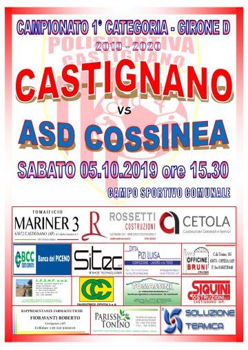 4° GIORNATA CASTIGNANO – COSSINEA